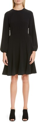 Co Blouson Long Sleeve A-Line Dress