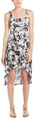 Andrew Marc Women's Printed High/Low Tank Dress