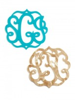 BaubleBar Script Acrylic Monogram Coaster Set