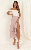 Showpo Day Tripper midi skirt In blush - 8 (S) Midi Skirts