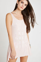 BCBGeneration Flowy Graphic Tank - Gray