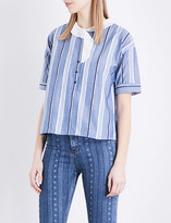 Sandro Striped pure-cotton top