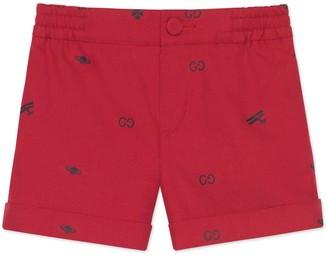Gucci Baby symbols cotton shorts