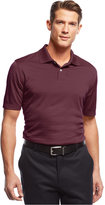 John Ashford Short Sleeve Solid Textured Performance Polo