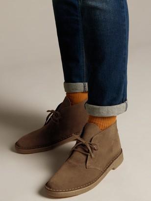 Clarks Originals Suede Desert Boot - Cola Brown