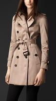Burberry Short Cotton Sateen Trench Coat
