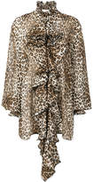 Redemption leopard print ruffled blouse