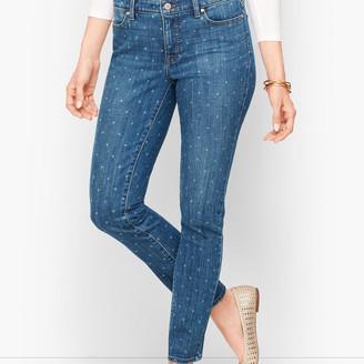 Talbots Slim Ankle Jeans - Tulip Print