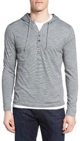 Robert Barakett Men's Penner Stripe Cotton Hoodie