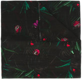Paul Smith plant print scarf - women - Silk/Cotton - One Size