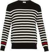 Saint Laurent Crew-neck striped wool sweater