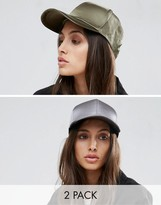 Asos 2 Pack Satin Baseball Cap