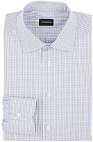 Ermenegildo Zegna Men's Rossini Cotton Dress Shirt-WHITE, NAVY