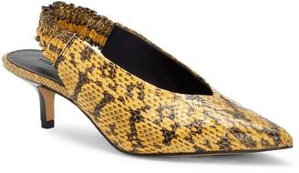 Rebecca Minkoff Damona Too Genuine Snakeskin Pointed Toe Pump
