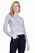 Select Fashion Fashion Womens Grey Short Pointelle Jumper - size 6