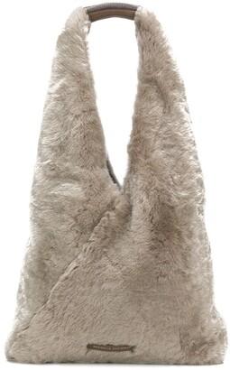 Brunello Cucinelli Shearling Shoulder Bag