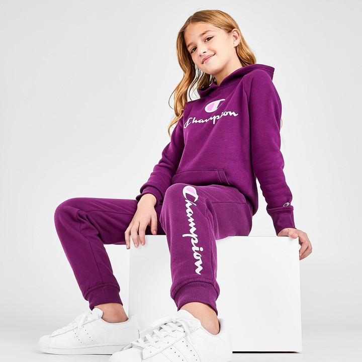 Champion Girls Heritage Brushed Fleece Jogger Sweatpant Big and Little Girls Kids