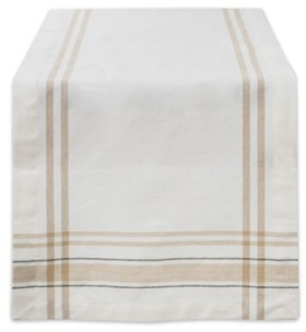 """Design Imports Chambray French Stripe Table Runner 14"""" x 108"""""""