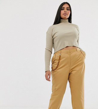 ASOS DESIGN Curve chain detail slim pants