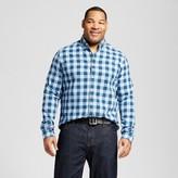 Merona Men's Big & Tall Long Sleeve Button Down Check Shirt