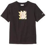 Burberry Renley Deer Tee (Little Kids/Big Kids) (Black) Kid's Clothing