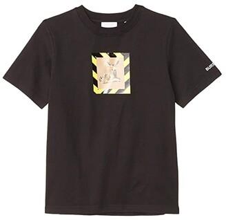 BURBERRY KIDS Renley Deer Tee (Little Kids/Big Kids) (Black) Kid's Clothing
