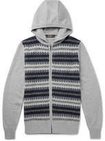 Loro Piana Fair Isle Cashmere And Silk-Blend Zip-Up Hoodie