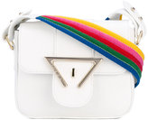 Sara Battaglia rainbow strap crossbody bag - women - Leather - One Size