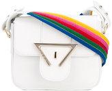 Sara Battaglia rainbow strap crossbody bag