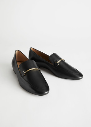 And other stories Smooth Leather Buckle Loafers