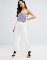 Missguided Crochet Waist Wide Leg Pants