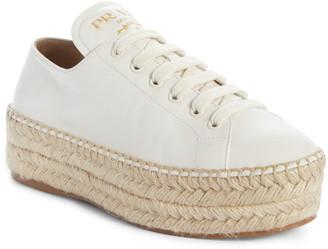 Prada Platform Espadrille Sneaker
