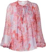 Giambattista Valli poppy-print chiffon blouse