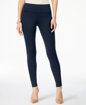 INC International Concepts Inc Petite Curvy-Fit Ponte-Knit Pants, Created for Macy's