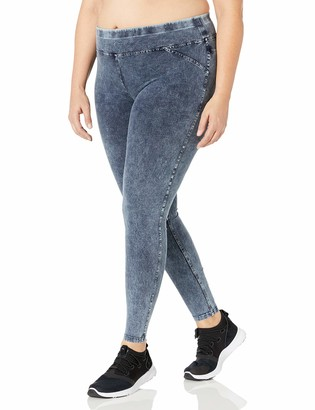 Andrew Marc Women's Indigo Wash Legging Jean Plus Size