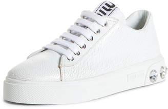 Miu Miu Crystal Skate Sneaker