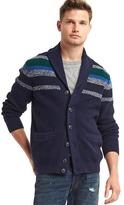 Gap Ribbed shawl collar cardigan