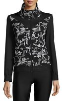 Koral Activewear Emblem Front-Zip Jacket, Black Camo