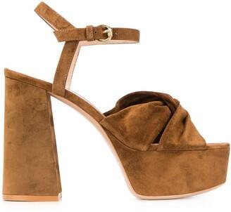 Gianvito Rossi Twist Detail 120mm Platform Sandals