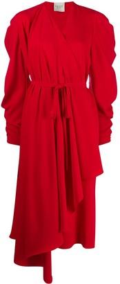 A.W.A.K.E. Mode Pleated Wrap Dress