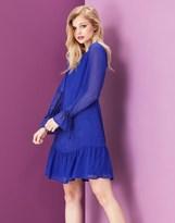 Yumi Flare Sleeve Dobby Dress