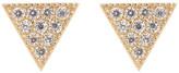 Candela 14K Yellow Gold CZ Triangle Stud Earrings