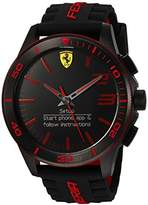 Ferrari Men's Quartz Stainless Steel and Silicone Smart Watch, Color:Black (Model: 830375)