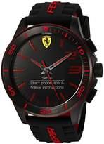 Ferrari Scuderia Men's Quartz Stainless Steel and Silicone Smart Watch