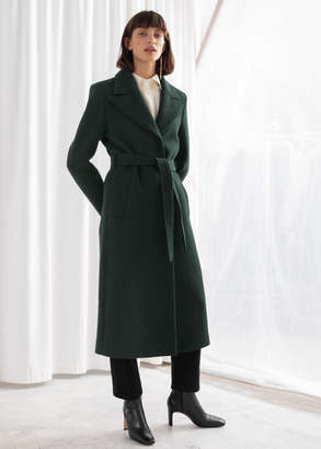 And other stories Herringbone Long Belted Coat