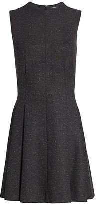 Theory Sleeveless Sparkle Seamed A-Line Dress