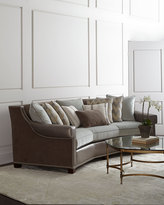 Horchow Massoud Glimmer Leather Sofa