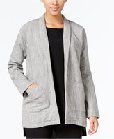 Eileen Fisher Shawl-Collar Open-Front Jacket