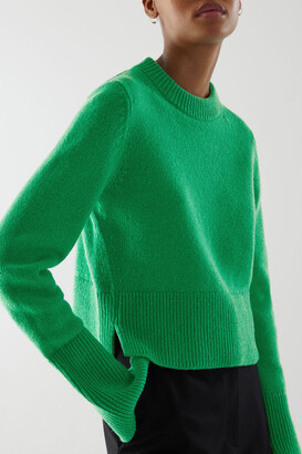 Cos Recycled Cashmere-Wool Mix Cropped Jumper