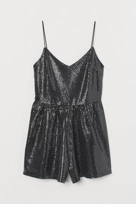 H&M Shimmery Romper - Black